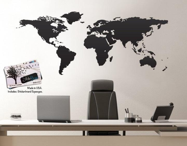 37 Eye Catching World Map Posters You Should Hang On Your Walls In Worldmap Wall Art (Image 3 of 20)