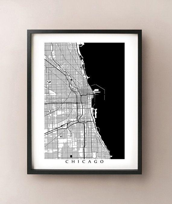 43 Best Chicago Art Images On Pinterest | Chicago Art, Posters And With Chicago Map Wall Art (Image 3 of 20)