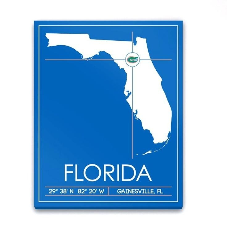 46 Best All Hail, Florida Hail Images On Pinterest | Florida Regarding Florida Map Wall Art (Photo 20 of 20)