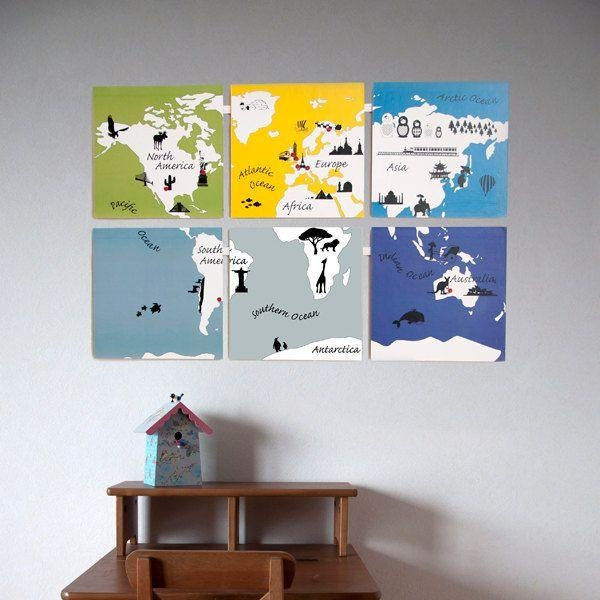 49 Best Map Images On Pinterest | World Maps, For The Home And Within World Map Wall Art For Kids (View 9 of 20)