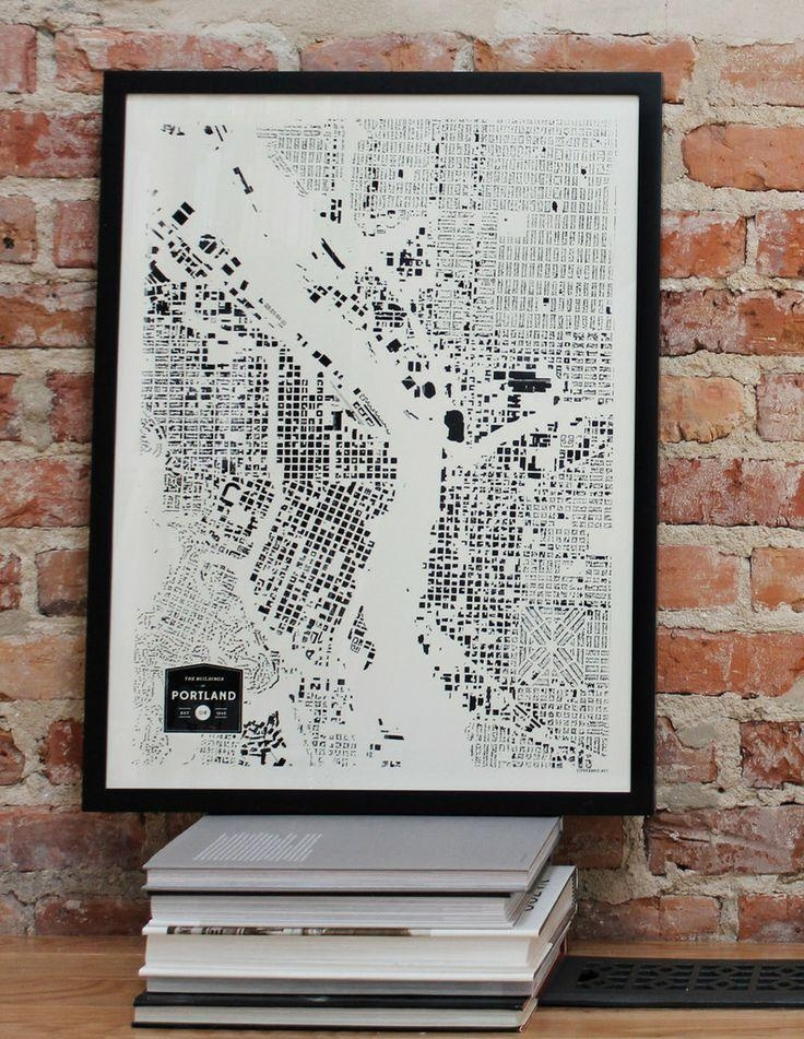 54 Best Moving To Portland, Oregon Images On Pinterest | Portland In Portland Map Wall Art (Photo 5 of 20)
