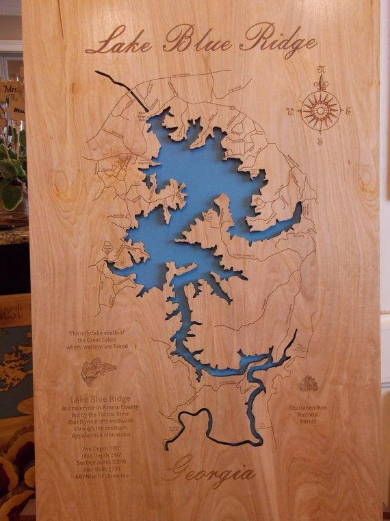 56 Best Lake Maps Images On Pinterest | Cartography, Globes And Pertaining To Lake Map Wall Art (View 14 of 20)