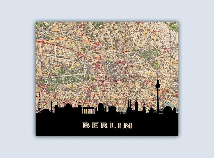 59 Best City Street Map Skyline Images On Pinterest | City Streets For City Prints Map Wall Art (Image 6 of 20)