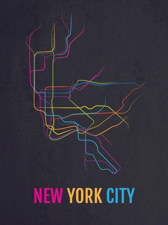 7 Best Art Suggestions Images On Pinterest | City Maps, New York Regarding New York Subway Map Wall Art (View 13 of 20)