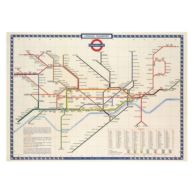 7 Best Dining Space Images On Pinterest | Dining Room, Room And Spaces Throughout London Tube Map Wall Art (View 3 of 20)