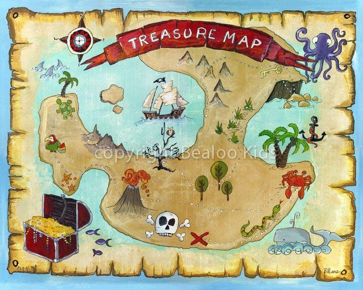 7 Best Pirate Images On Pinterest | Pirate Treasure Maps, Pirate For Treasure Map Wall Art (Image 1 of 20)