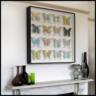 73 Best Wall Decor Images On Pinterest | Room Wall Decor for Butterfly Map Wall Art