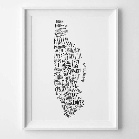 Featured Image of Nyc Map Wall Art