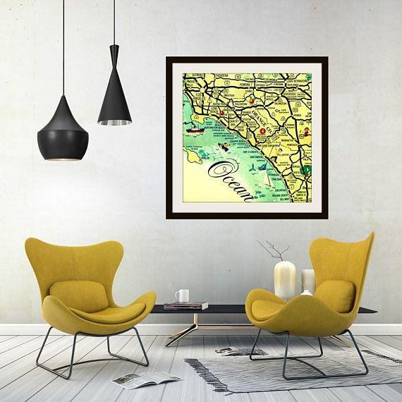 91 Best Vintage California Images On Pinterest | Vintage with regard to San Diego Map Wall Art