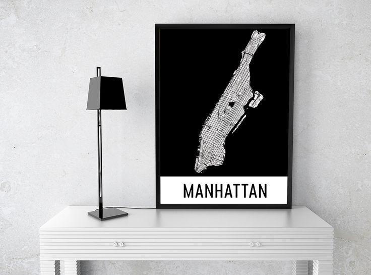 99 Best Best Of Modern Map Art Images On Pinterest | Map Art for Manhattan Map Wall Art