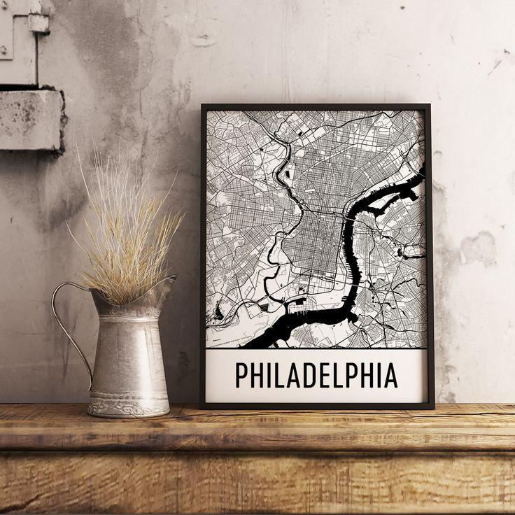 99 Best Best Of Modern Map Art Images On Pinterest | Map Art Regarding Philadelphia Map Wall Art (Image 2 of 20)