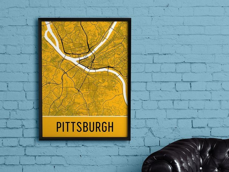 99 Best Best Of Modern Map Art Images On Pinterest | Map Art Within Pittsburgh Map Wall Art (View 12 of 20)