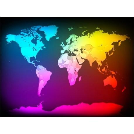 Abstract World Map Art Canvas Print Throughout Abstract World Map Wall Art (Image 4 of 20)