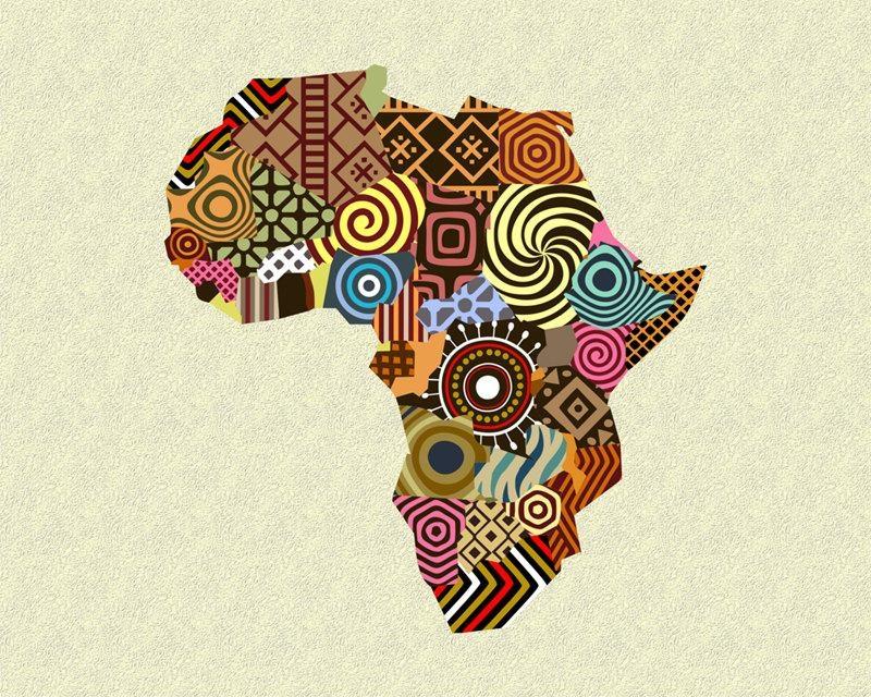 African Map Art, African Wall Art, African Wall Decor, African Intended For Africa Map Wall Art (Image 8 of 20)
