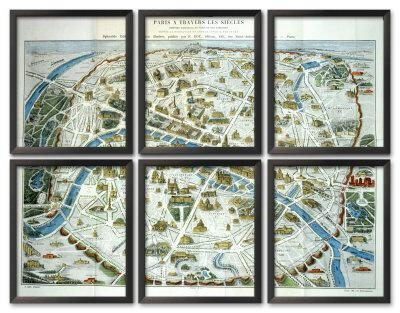 Antique Paris Map Print – Ballard Designs Pertaining To Paris Map Wall Art (Image 6 of 20)