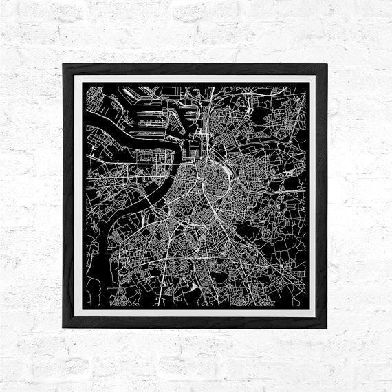 Antwerp Belgium City Map Poster Line Art City Map Road Map Of With City Map Wall Art (View 8 of 20)