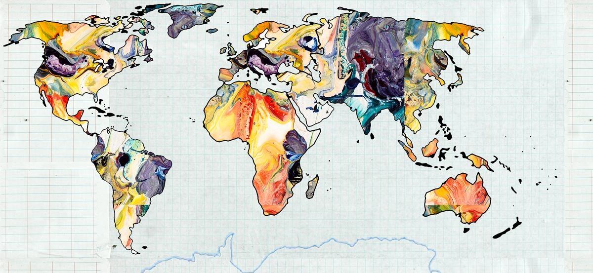 Art Maps Gallery: World Map Art, U.s (View 10 of 20)