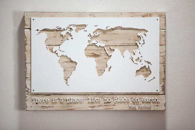 Awesome Wall Art Designs Wall Art Map Of The World Decor Poster In Map Wall Art Maps (View 15 of 20)