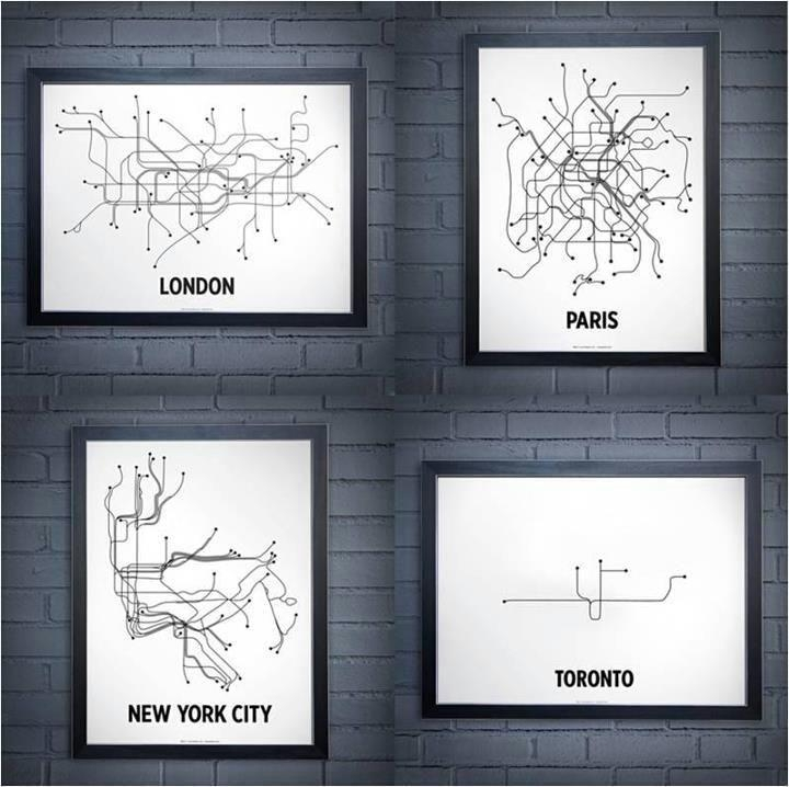Featured Photo of New York Subway Map Wall Art