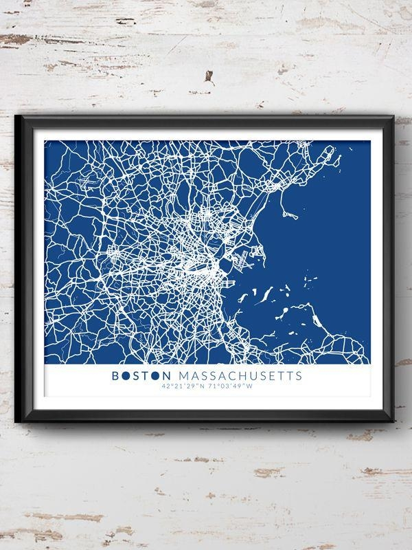 Best 25+ Boston Wall Art Ideas On Pinterest | Large Art Prints With Regard To City Map Wall Art (Image 6 of 20)