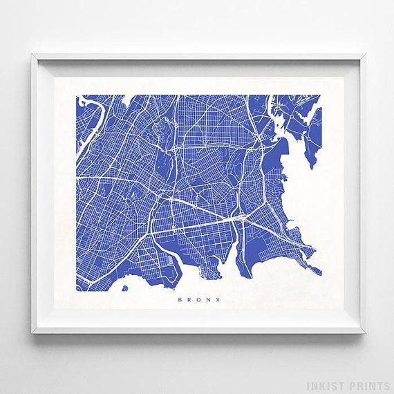 Best 25+ Bronx Map Ideas On Pinterest | Bronx Nyc, Map Of Inside Manhattan Map Wall Art (View 15 of 20)