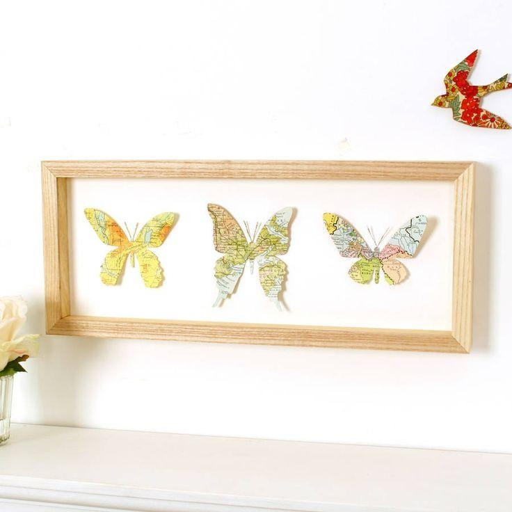 Best 25+ Butterfly Artwork Ideas On Pinterest | Butterfly Art Within Butterfly Map Wall Art (Image 7 of 20)