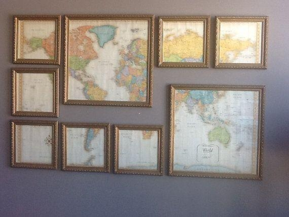 Best 25+ Framed World Map Ideas On Pinterest | World Map With Pins With Framed Map Wall Art (Image 2 of 20)