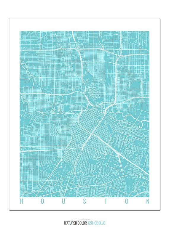 Best 25+ Houston Map Ideas On Pinterest | Houston Neighborhoods In Houston Map Wall Art (Image 2 of 20)