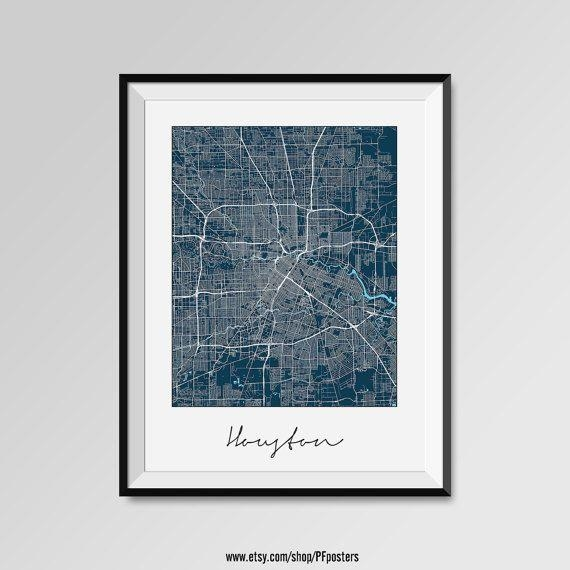 Best 25+ Houston Map Ideas On Pinterest | Houston Neighborhoods In Houston Map Wall Art (View 3 of 20)