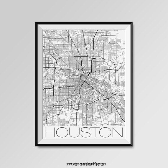 Best 25+ Houston Map Ideas On Pinterest | Houston Neighborhoods Pertaining To Houston Map Wall Art (View 16 of 20)