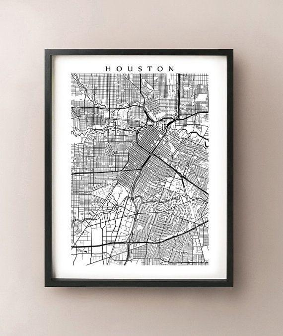 Best 25+ Houston Map Ideas On Pinterest | Houston Neighborhoods Throughout Houston Map Wall Art (View 2 of 20)
