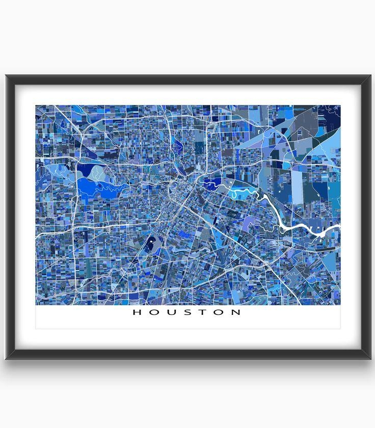 Best 25+ Houston Map Ideas On Pinterest | Houston Neighborhoods With Houston Map Wall Art (View 17 of 20)