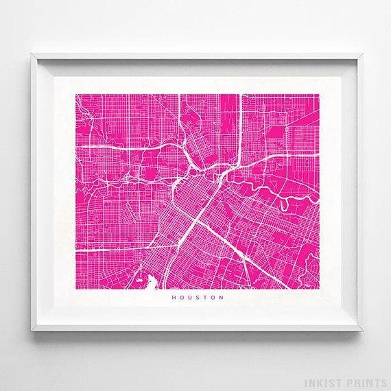 Best 25+ Houston Map Ideas On Pinterest | Houston Neighborhoods With Regard To Houston Map Wall Art (View 6 of 20)