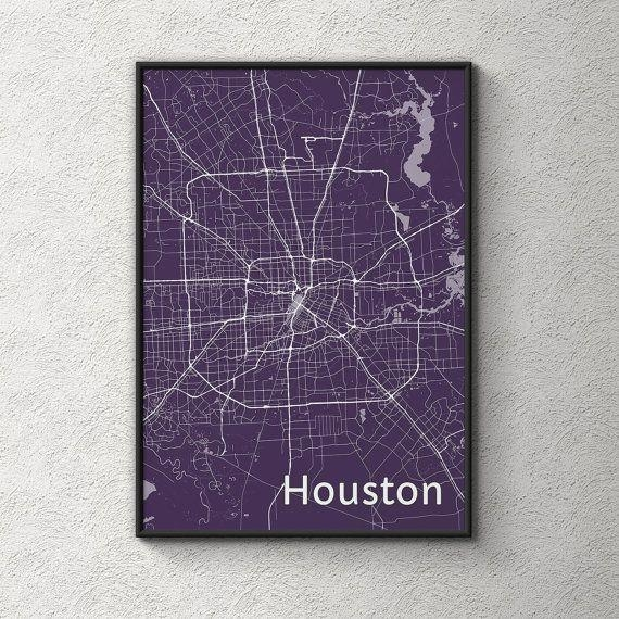 Best 25+ Houston Map Ideas On Pinterest | Houston Neighborhoods Within Houston Map Wall Art (View 7 of 20)