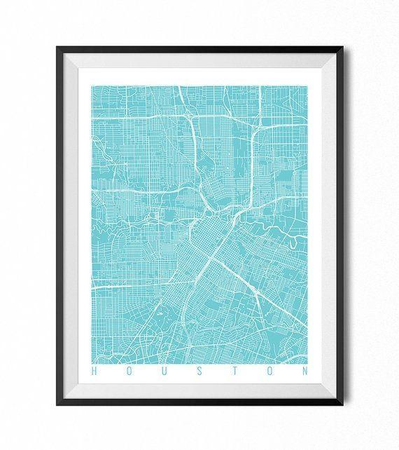 Best 25+ Houston Map Ideas On Pinterest | Houston Neighborhoods Within Houston Map Wall Art (View 4 of 20)