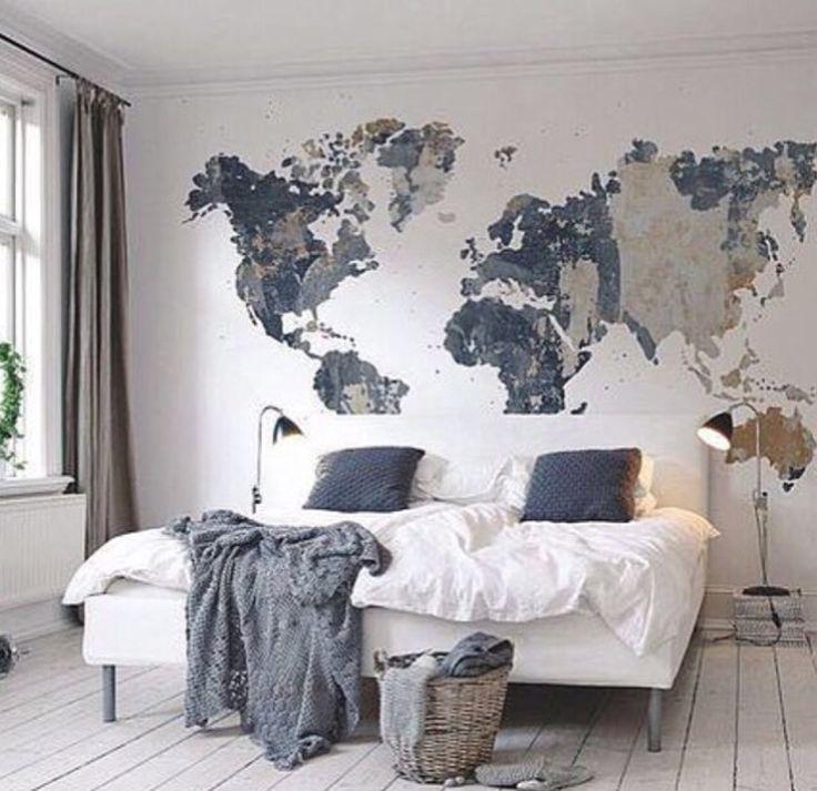 Best 25+ Map Wall Art Ideas On Pinterest | World Map Wall Art In Cool Map Wall Art (Image 12 of 20)