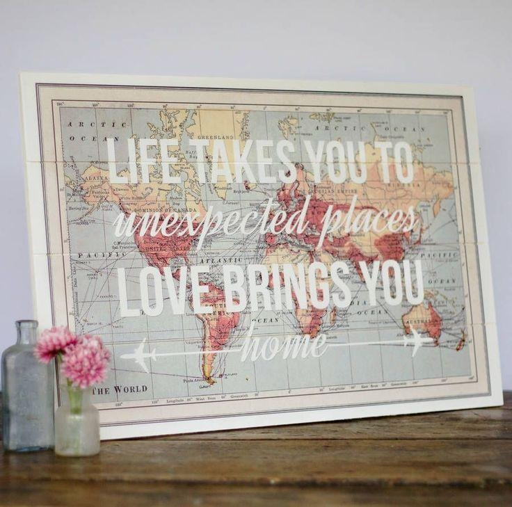 Best 25+ Map Wall Decor Ideas On Pinterest | Map Wall Art, World With Map Wall Art Maps (Image 4 of 20)