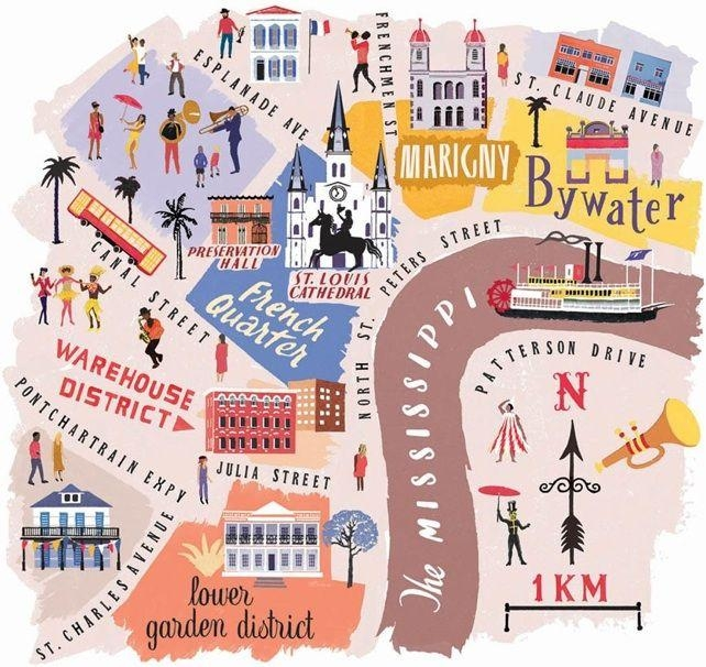 Best 25+ New Orleans Art Ideas On Pinterest | New Orleans In New Orleans Map Wall Art (Image 5 of 20)