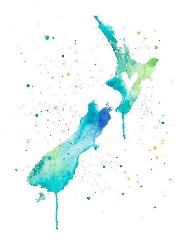 Best 25+ New Zealand Art Ideas On Pinterest | New Zealand Regarding New Zealand Map Wall Art (Image 5 of 20)