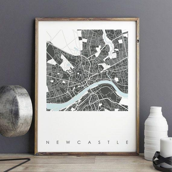 Best 25+ Newcastle Map Ideas On Pinterest | York England Map, Uk In City Prints Map Wall Art (Image 10 of 20)