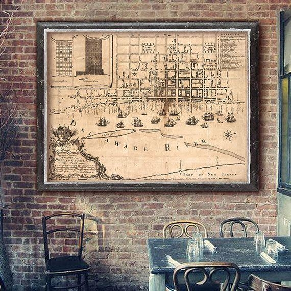 Best 25+ Philadelphia Map Ideas On Pinterest   Maps S, Map Of Pertaining To Philadelphia Map Wall Art (Image 6 of 20)