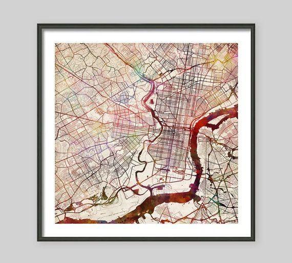 Featured Image of Philadelphia Map Wall Art