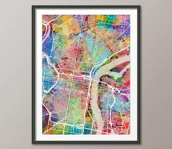 Best 25+ Philadelphia Map Ideas On Pinterest   Maps S, Map Of Regarding Philadelphia Map Wall Art (Image 8 of 20)