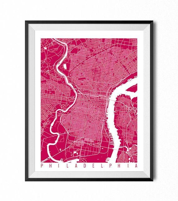 Best 25+ Philadelphia Map Ideas On Pinterest | Maps S, Map Of Regarding Philadelphia Map Wall Art (View 5 of 20)