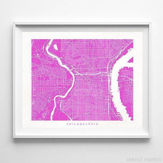 Best 25+ Philadelphia Map Ideas On Pinterest   Maps S, Map Of With Regard To Philadelphia Map Wall Art (Image 12 of 20)