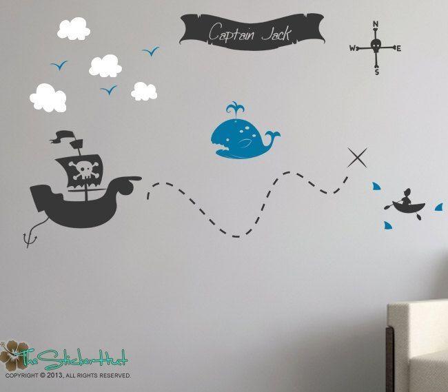 Best 25+ Pirate Treasure Maps Ideas On Pinterest | Pirate Treasure With Regard To Treasure Map Wall Art (Image 2 of 20)
