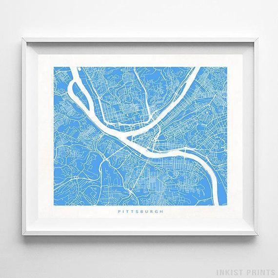 Best 25+ Pittsburgh Map Ideas On Pinterest | Pittsburgh Art In Pittsburgh Map Wall Art (Image 5 of 20)