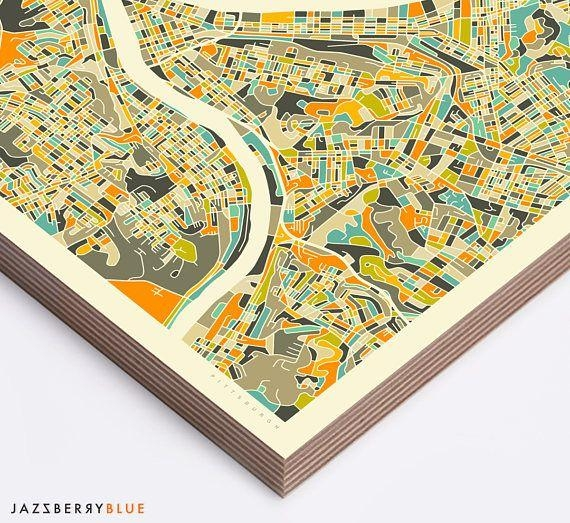 Best 25+ Pittsburgh Map Ideas On Pinterest | Pittsburgh Art Regarding Pittsburgh Map Wall Art (Image 8 of 20)