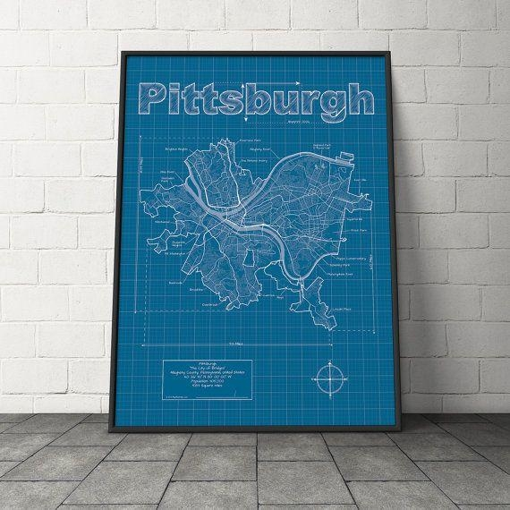 Best 25+ Pittsburgh Map Ideas On Pinterest | Pittsburgh Art Throughout Pittsburgh Map Wall Art (View 17 of 20)
