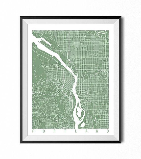 Best 25+ Portland Map Ideas On Pinterest | Map Of Portland Oregon Within Portland Map Wall Art (Image 4 of 20)